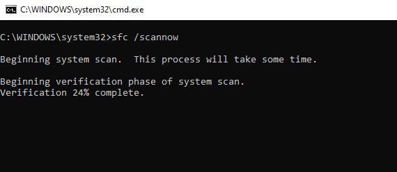 scan running